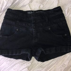 Great black denim shorts!!!